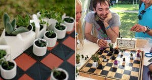 3D-Printed Chess Pieces Flower Pots