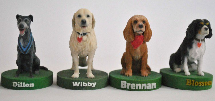 3d dogs together