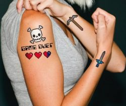 8-Bit Temporary Tattoos