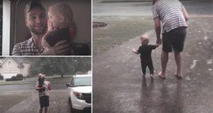 Baby Harper Experiences Rain