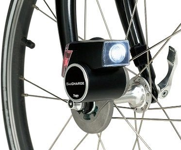 Bicycle Powered USB Charger wheel