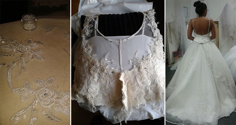 See How One Bride Transformed A Thrift Store Wedding Dress