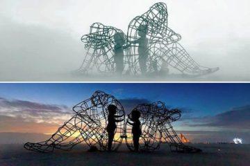 Burning Man Sculpture Alexander Milov