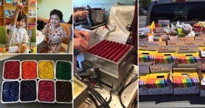 Dad Melts Crayons For Hospitals