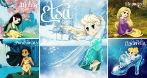 Disney Princesses Drawn In Chibi Style