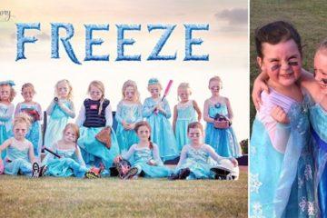 Frozen Inspired Soft Ball Team