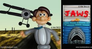 Movie Scenes And Posters Recreated With Balloons