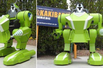 Moving Kids Sit On Robot Japan