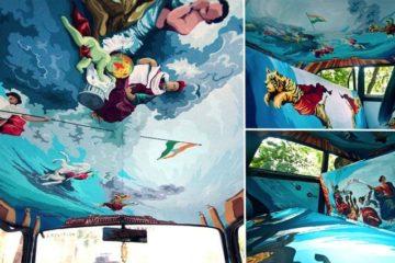 Mumbai Taxi Turned Into Art Work