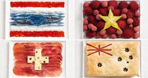 National Flags Made Up Of Food