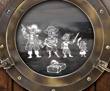 Pirate Family Car Decals