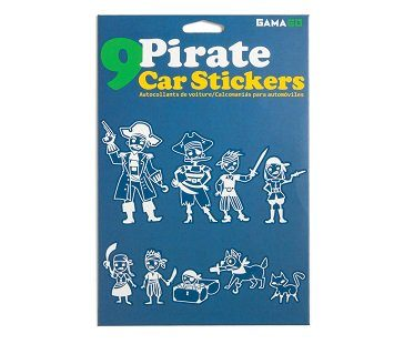 Pirate Family Car Decals pack