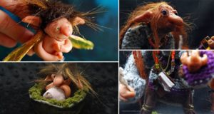Polymer Clay Poseable Troll Figures