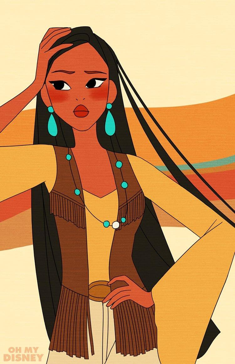 Retro-Pocahontas