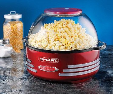 Stirring Popcorn Maker And Nut Toaster