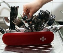 Swiss Army-Style Utensil Holder