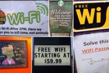 Unusual Wi-Fi Signs