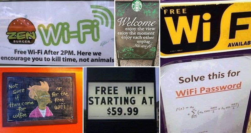 14 Hilariously Unusual Wi Fi Signs You Need To See