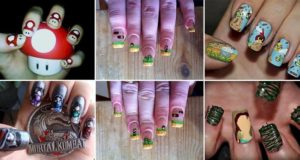 Video Game Inspired Nail Art