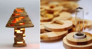 Wooden Jenga Lamp