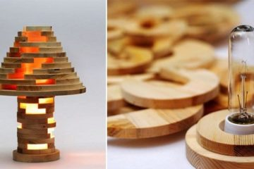 Wooden Jenga Lamp