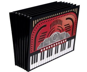 accordion letter folder office