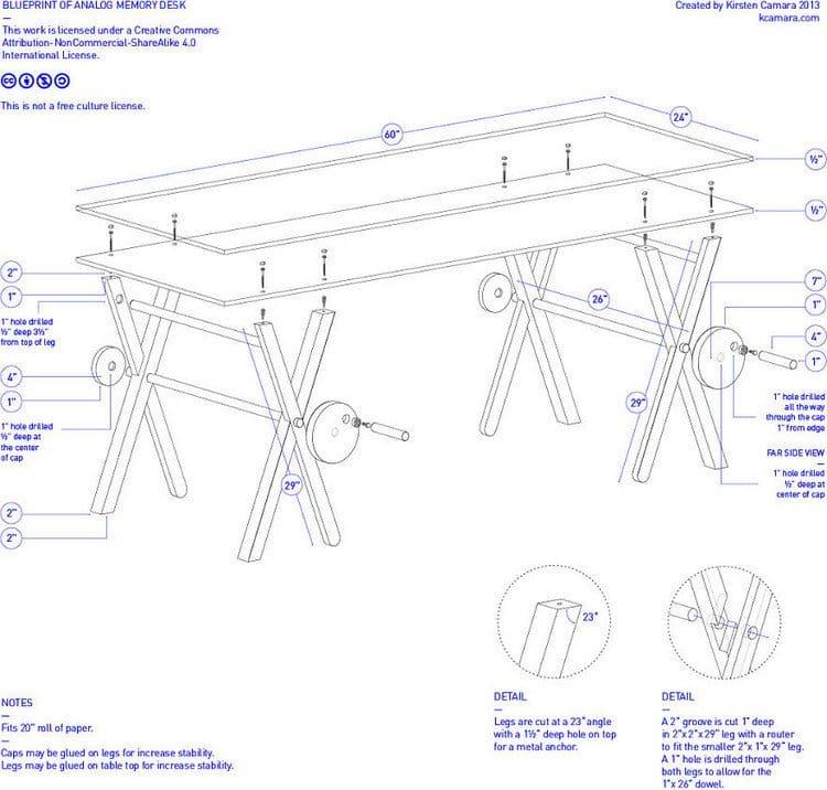 analog desk plans