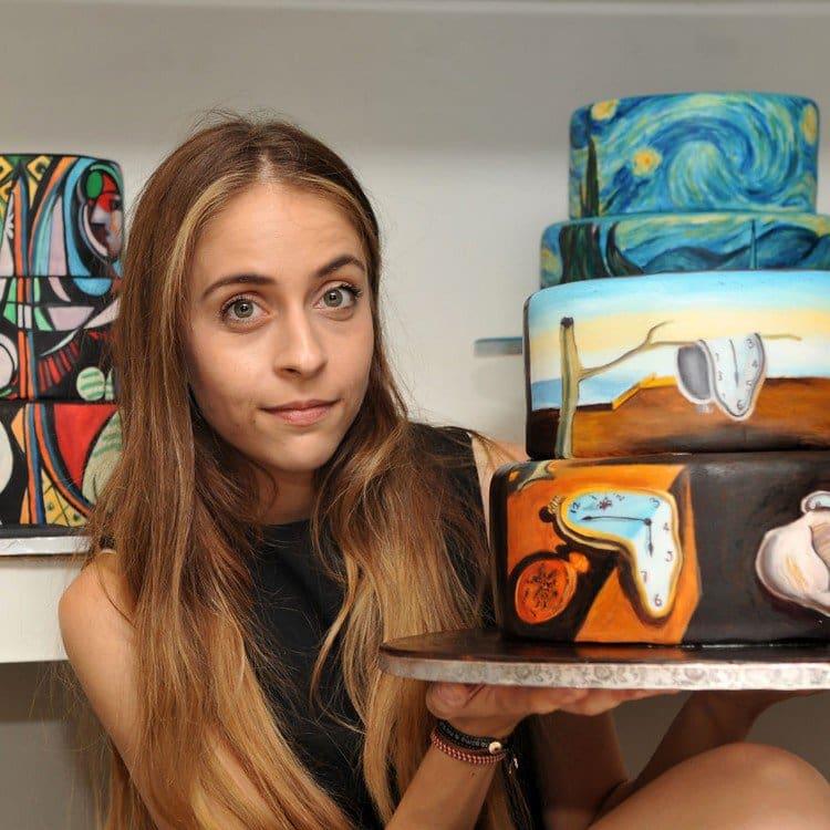 artist painted cake