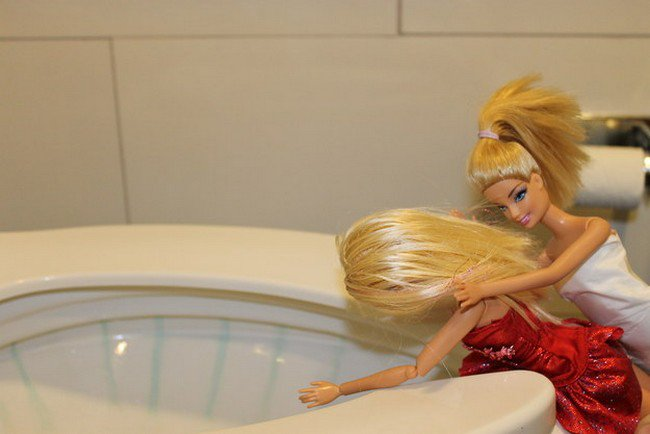 barbie being sick