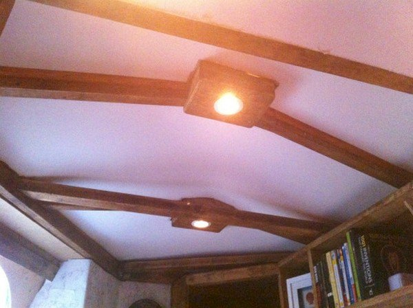 beamed ceiling lights