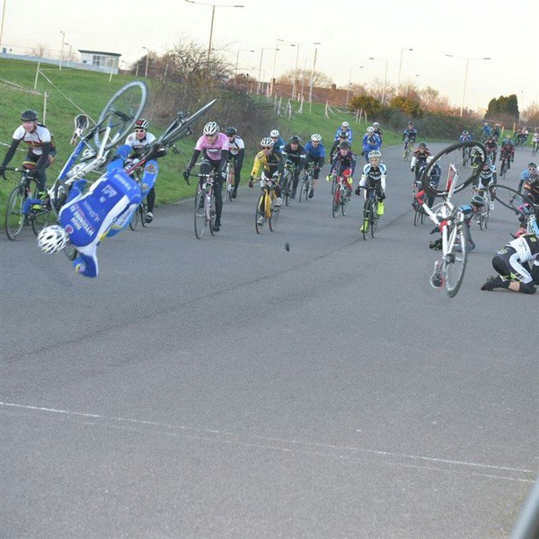 bike accident race
