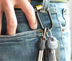 bike lock key ring belt hook