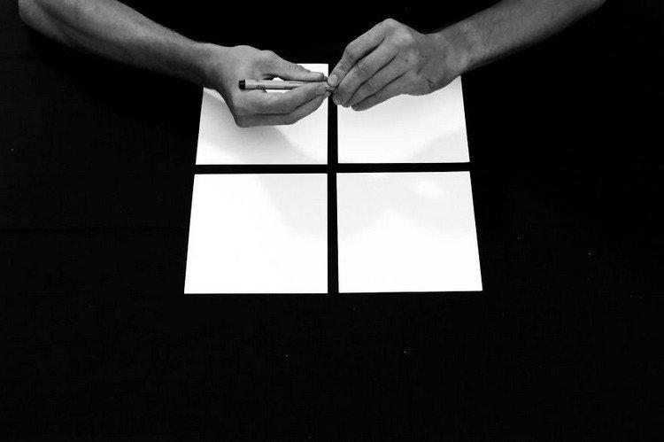 blank squares hands pen