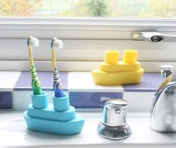 boat toothbrush holder