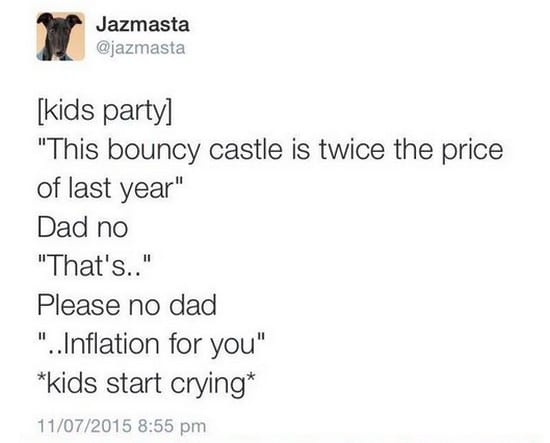 bouncy castle inflation