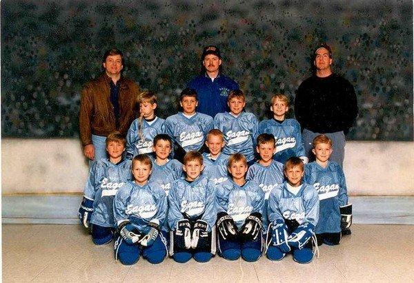 boy vomit team photo