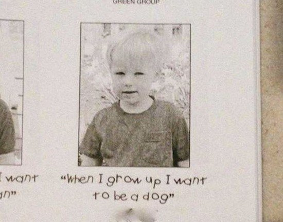 boy wants to be dog