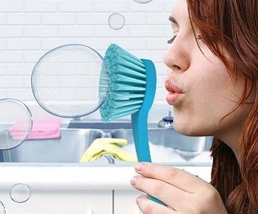 bubble wand dish brush
