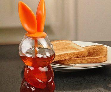 bunny rabbit honey jar