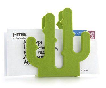 cactus letter holder green