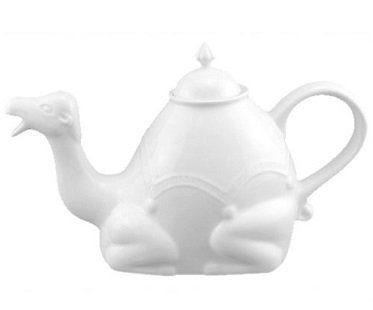 camel teapot white