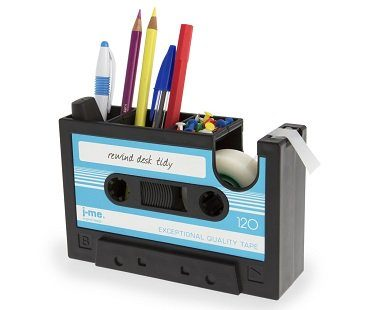 cassette tape desk tidy