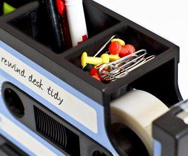 cassette tape desk tidy pins
