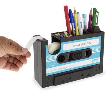cassette tape desk tidy tape