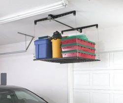 ceiling-mounted storage rack