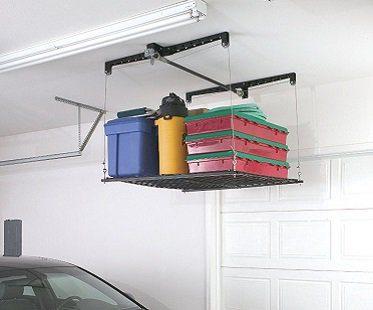 ceiling-mounted storage rack