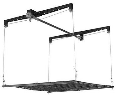 ceiling-mounted storage rack shelf