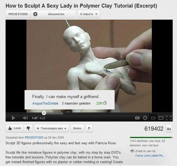 clay sculpting video