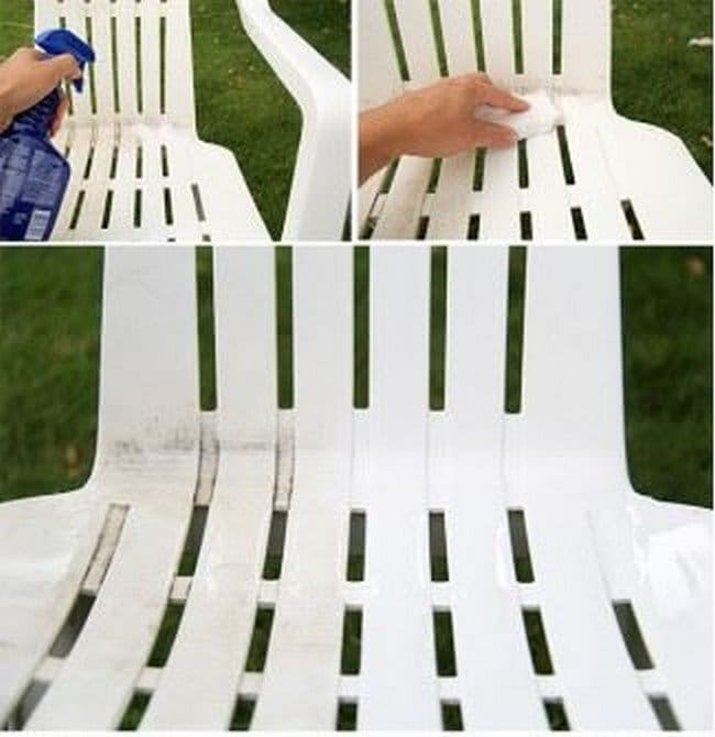 cleaning outdoor chair