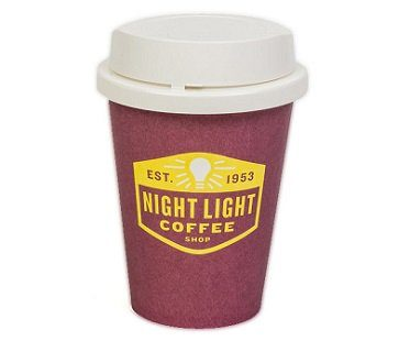 coffee cup night light paper